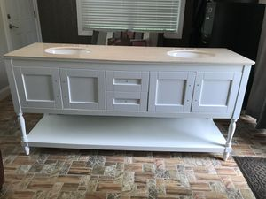 Double Sink vanity top with granite top for Sale in Silver Spring, MD