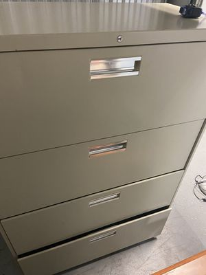 Large and wide four drawer steel filing cabinet for Sale in St. Petersburg, FL