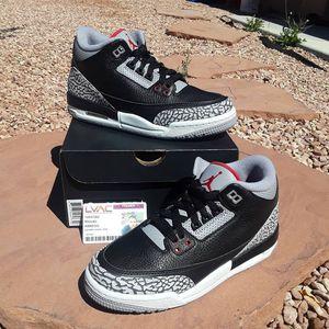 BRAND NEW JORDAN RETRO 3 BLACK CEMENT GS SZ.6Y $240FIRM for Sale in Las Vegas, NV