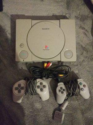PlayStation 1 with controllers for Sale in Stanton, CA