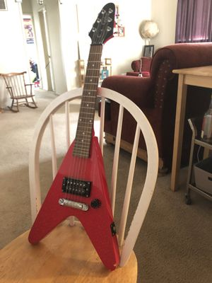 EPIPHONE Flying Ax Flying V, Red Electric Small Guitar for Sale in Los Angeles, CA