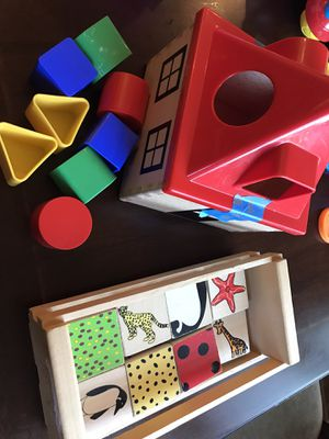 Wood ikea sorting toy and wood matching game for Sale in Clovis, CA