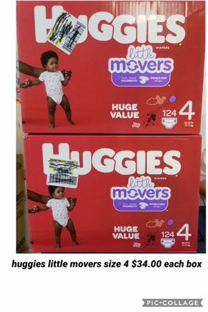 huggies little movers size 4 for Sale in Los Angeles, CA