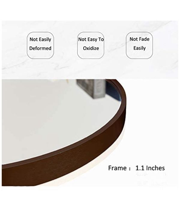 "Wall Round 20"" Mirror, Black Frame, for Bathroom,Bedroom, Living Room"