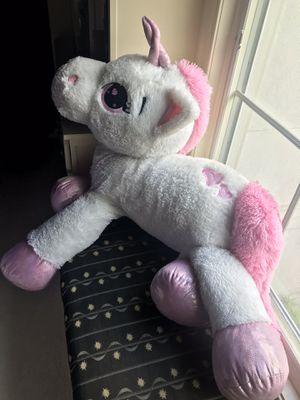 Giant unicorn stuffed animal for Sale in Rockville, MD