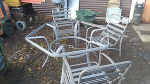 Metal patio furniture needs glass for Sale in Greenville, SC