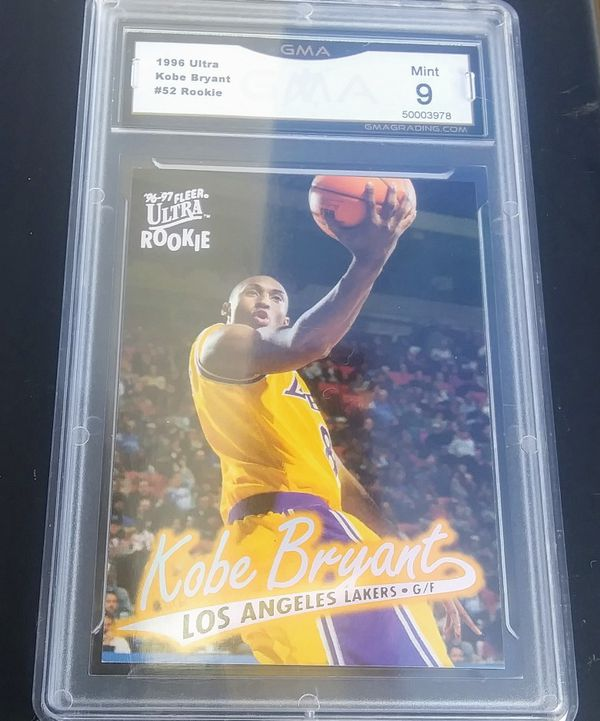 Rare! '96-'97 Fleer Ultra Rookie #52 Kobe Bryant Gem Mint 9