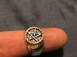 .925 silver Star of David or Wicca pentagram ring for Sale in Boston, MA
