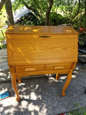 Solid wood work desk with matching chair for Sale in Batsto, NJ