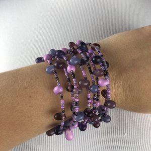 Purple Beaded Wrap Bracelet for Sale in Tampa, FL