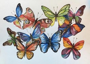 11x15watercolor butterflies for Sale in Los Angeles, CA