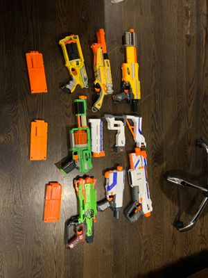 Nerf gun lot for Sale in Niles, IL