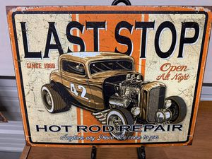 Last stop tin sign for Sale in Lakeland, FL