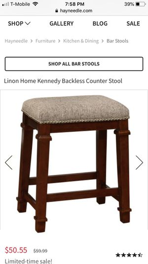 Linon Elle backless bar stool NEW for Sale in West Valley City, UT