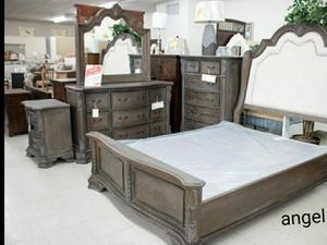 🧿BRAND NEW 🧿Antique Gray Panel Bedroom Set for Sale in Jessup, MD