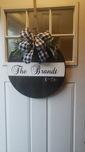 Wooden circle door signs for Sale in Lititz, PA