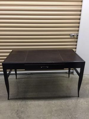 Desk, Cabinet& Loveseat:Furnish You Office Today!!!!High quality 3 piece office furniture. Executive Desk, Lighted Cabinet& Leather Loveseat for Sale in Brentwood, TN