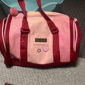 American Girl Doll Modern Dance Outfit Bag Yoga Pink MmDuffel Bag Gym for Sale in Chula Vista, CA