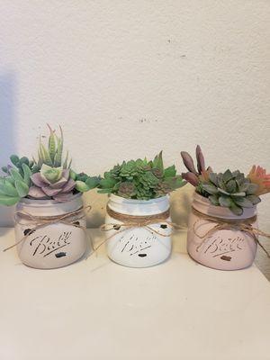 Succulent mason jar decor set for Sale in Houston, TX