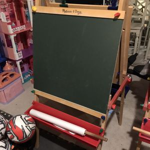 Melissa And Doug Easel - Chalkboard And Dry Erase for Sale in Jackson Township, NJ