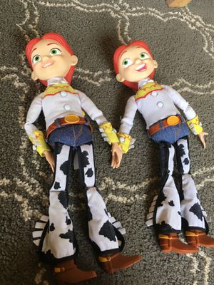 "Toy Story Collectible Jessie 15"" Toy Story Jessie Talking Pull String 2 Dolls without Hats, Disney. for Sale in Apple Valley, CA"