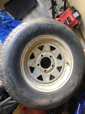Galvanized Trailer Rims. BAD TIRES for Sale in Mooresville, NC