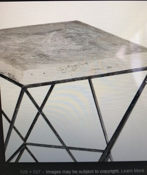Black and Concrete Isosceles Table for Sale in Portland, OR