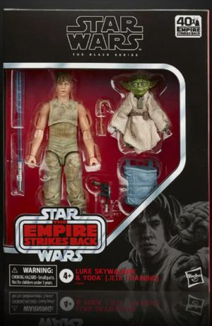 Star Wars Black Series 40th The Empire Strikes Back Luke Skywalker & Yoda Jedi Training Collectible Action Figure Toy for Sale in Chicago, IL