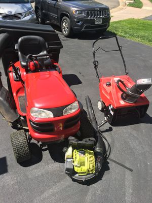 Yard maintenance package. Riding mower, snowblower, leaf blower, edger, hedge trimmer for Sale in Haymarket, VA