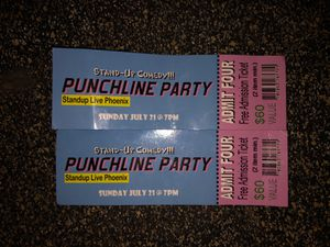 Punchline party tickets. Standup live Phoenix for Sale in Phoenix, AZ