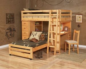 Kids Loft/Bunk storage bed with desk and shelves for Sale in Nottingham, MD