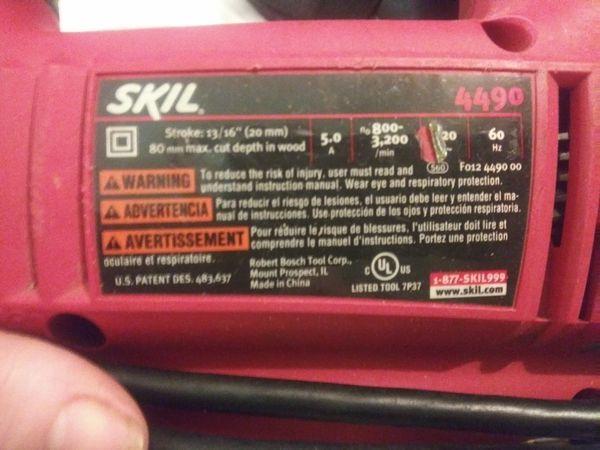 Skil Jigsaw/Model 4490/5.0 Amp/Scrolling/Orbital