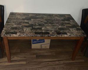 Breccia FAUX marble table set for Sale in Phoenix, AZ