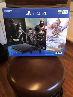 PS4 system brand new with 3 games , 1Tb for Sale in Portsmouth, VA