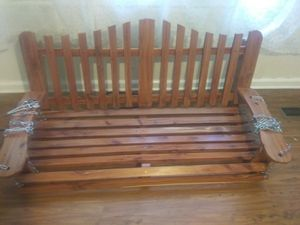 Beautifully handcrafted red cedar wood porch swing for Sale in Dublin, GA