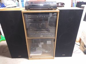 Vintage sharp stereo system with record player for Sale in Queens, NY