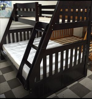 NEW BUNK BED FULL TWIN WITH NEW MATTRESS INCLUDED ALL NEW for Sale in West Palm Beach, FL