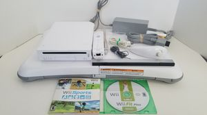 Original Nintendo Wii White Console/System Complete w/ Wii Sports, Wii Fit Plus, Wii Balance Board, 1 Controller & All Cables! Works Perfectly! for Sale in Las Vegas, NV