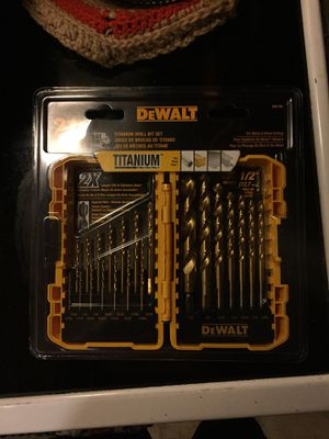 Dewalt 21 pc./p. Titanium drill bit set for Sale in East Windsor, CT