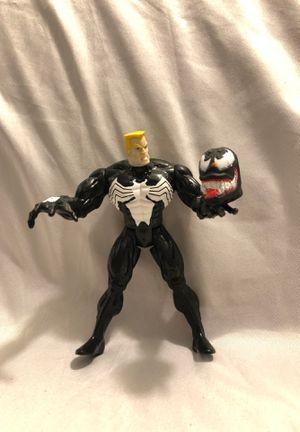 Venom Unmasked Marvel Universe Knights Comics Action Figure Toy Biz 1997 for Sale in Menifee, CA