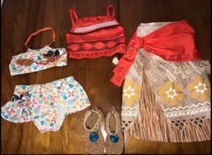 Authentic Disney Moana outfit, shoes and swimsuit for Sale in Katy, TX