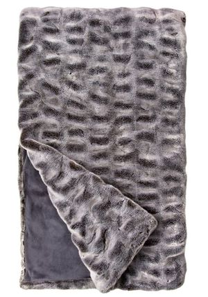 FAUX FUR THROW-COUTURE GREY MINK for Sale in Covington, KY