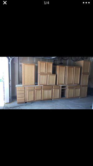 Kitchen Cabinets (light oak) for Sale in Denver, CO