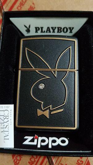 Zippo playboy bunny head emblem black matte 28816 for Sale in Los Angeles, CA