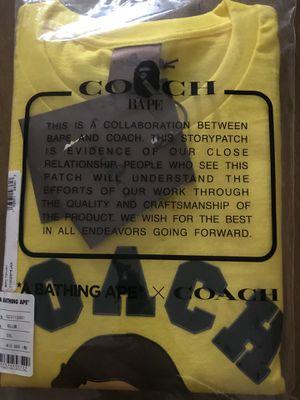 Coach x BAPE shirt for Sale in Yorba Linda, CA