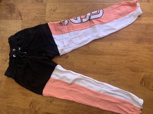 GCDS BLACK BABY PINK AND WHITE JOGGERS SIZE L for Sale in Los Angeles, CA