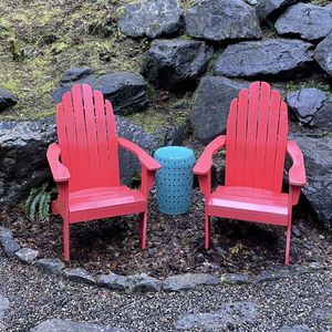 Red Adirondack Chairs and Side Table for Sale in Issaquah, WA