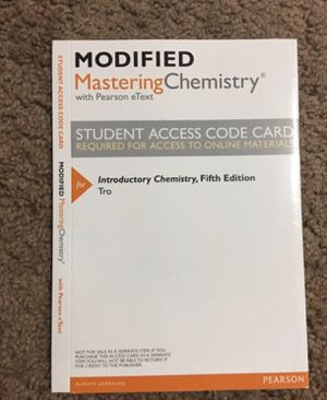 Modified Mastering Chemistry Access Code for Sale in Las Vegas, NV