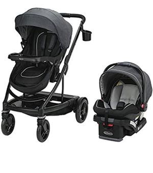 Graco Uno2Duo Travel System | Includes UNO2DUO Stroller and SnugRide SnugLock35 Infant Car Seat, Goes from Single to Double Stroller, Reece for Sale in Irving, TX