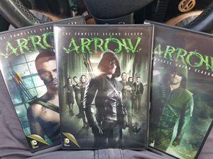 Arrow TV series complete seasons 1 through 3 for Sale in Virginia Beach, VA